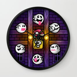 Boos in the Haunted House Wall Clock