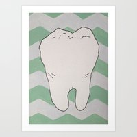 tooth Art Prints featuring Tooth by Jazzmatazz