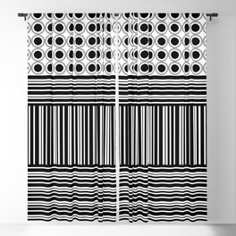 Circles and Barcode Blackout Curtain