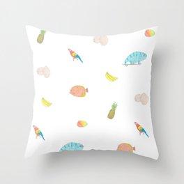 Island Friends Throw Pillow
