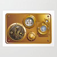 steampunk Art Prints featuring Steampunk by pASob