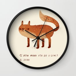 zero fox given Q and A Wall Clock