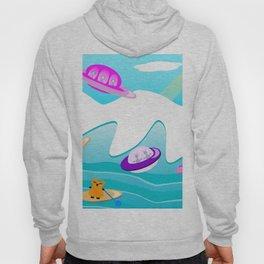 Aliens Go Surfing Hoody