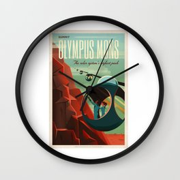Exploring Mars Wall Clock