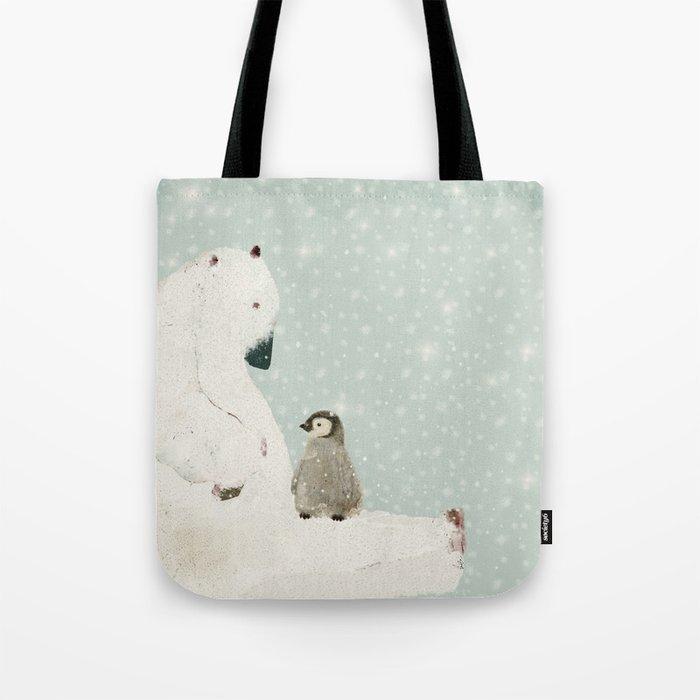 penguin and bear Tote Bag