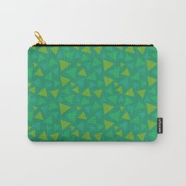 animal crossing grass pattern triangle spring green Carry-All Pouch