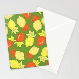Tumbled Lemons Pattern Stationery Cards
