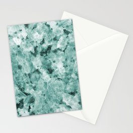 Mint Green Crystal Marble Stationery Cards