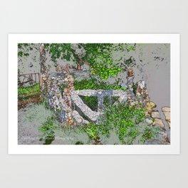 sketched gate Art Print