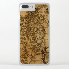 Map of Chesapeake Bay 1774 Clear iPhone Case
