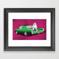 Baboon Hangin' Out Framed Art Print