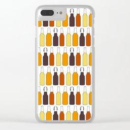 Vintage Beer Bottles Clear iPhone Case