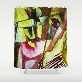 In Reality I am Divided Shower Curtain