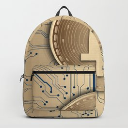 Bitcoin money gold Backpack