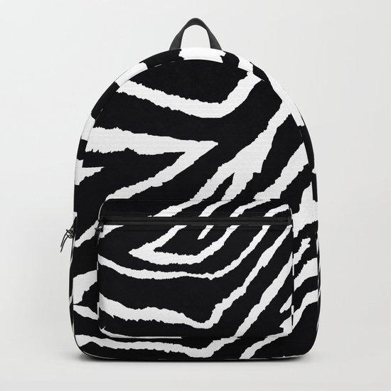 ZEBRA ANIMAL PRINT BLACK AND WHITE PATTERN Backpack