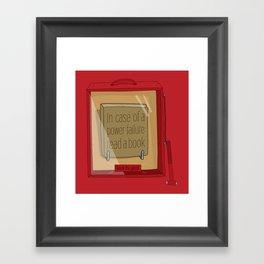 In case of a power failure: read a book Framed Art Print