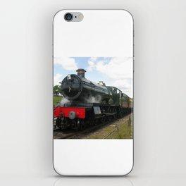 Vintage steam engine railway train iPhone Skin