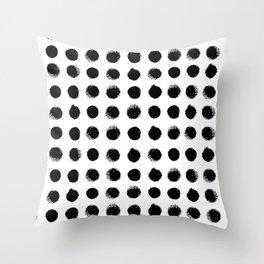 Black & White Dots Throw Pillow