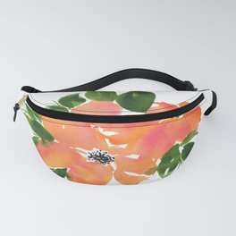 Loose Floral Watercolor Blooms Fanny Pack