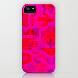 Neon Cutout Print iPhone Case