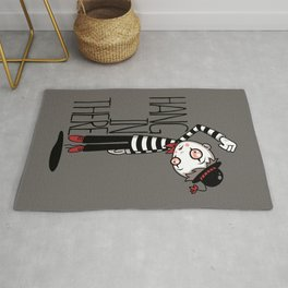 Hang In There Mime Rug