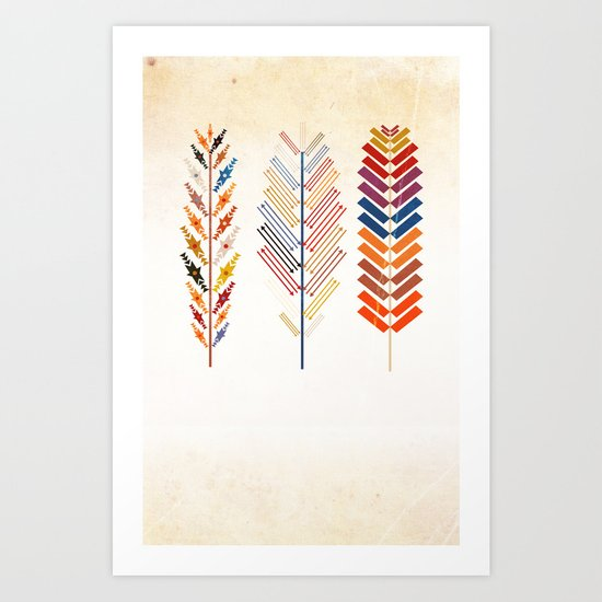 Tribal Feather Art Print