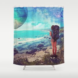 Visions of wanderlust Shower Curtain