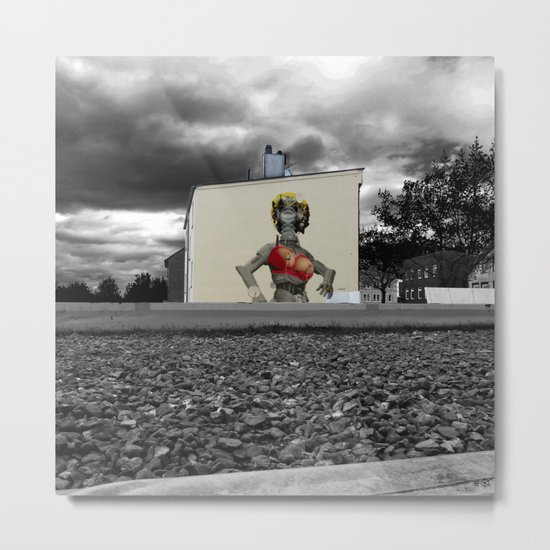 StreetArt Invasion 6 - Marilyn Metal Print