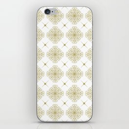 abstract floral pattern iPhone Skin