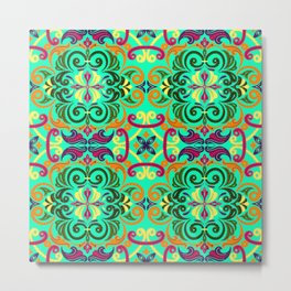 Ethnic Curlsley patterns-4 Metal Print