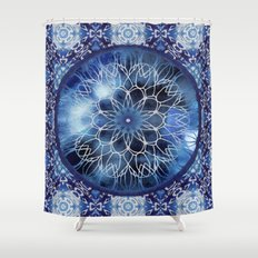 Batik Dreamcatcher Mandala Shower Curtain