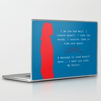 bad wolf Laptop & iPad Skins featuring Bad Wolf by Grace Thanda