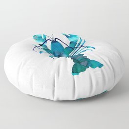 Blue Lobster Floor Pillow