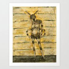 portrait of an ant Art Print