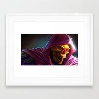skeletor Framed Art Prints featuring Skeletor by Fabio Leone
