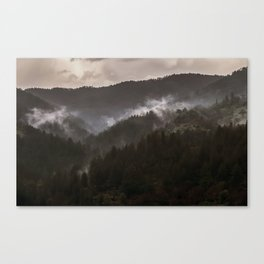 Foggy morning in Bosnia Canvas Print