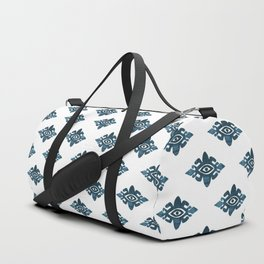 Evil Eyes Blue Duffle Bag