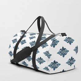 Evil Eyes Blue Duffle Bag