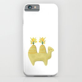 Double hump (Bactrian) camel flower vase drawing iPhone Case