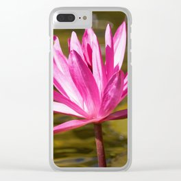 Peace & Hope Found via Waterlily Clear iPhone Case
