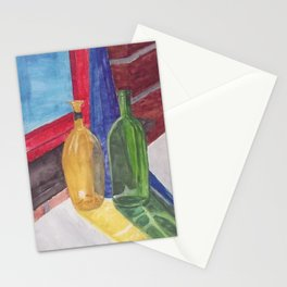 glass bottle still life Stationery Cards