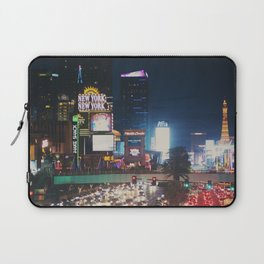 night time on the strip ... Laptop Sleeve
