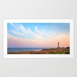 Calmness Over Pigeon Point Lighthouse Art Print