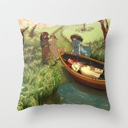 An Unfortunate Lily Maid Throw Pillow