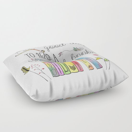 It s a Good Day to Read a Good Book Floor Pillow by Evie Seo Society6