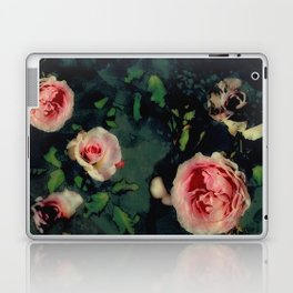 Big Pink Roses and Green Leaves Graphic Laptop & iPad Skin