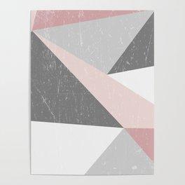 Grunge Geometric Retro Pattern Poster