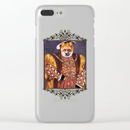 Henry VIII Fox Poster Clear iPhone Case
