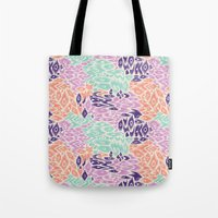 leopard Tote Bags featuring Leopard by moniquilla