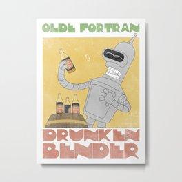 Olde Fortran (Drunken Bender) Metal Print